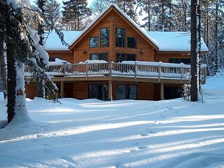 Log Home in Winter Wonderland, Ski, Splash or just Get Away  from it all