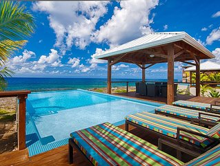 Unparalleled proximity to the Caribbean Sea - Infinity Pool - Spectacular Sunset