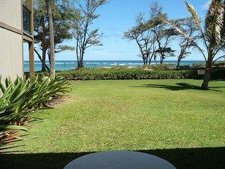 LARGE! Beachfront 2BR/2BA Condo with W/D  Coconut Coast Kauai STEPS TO BEACH!