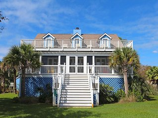 Idyllic four-bedroom beach home on Sullivan's Island with beautiful porches!