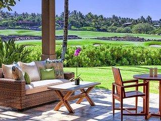 Enjoy this newly furnished 3 bedroom Waiulu Villa at Hualalai Resort