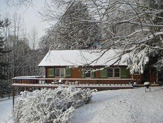 Back side of Rieke Retreat in snow