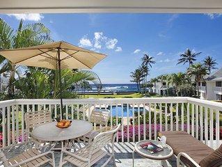 Poipu Kapili #30: Panoramic Ocean & Pool Views with AC!