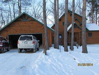 New Listing!Beautiful Log Cabin near Devil`s Lake.