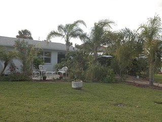 Walk to the beach from this peaceful, pet friendly, hideaway.
