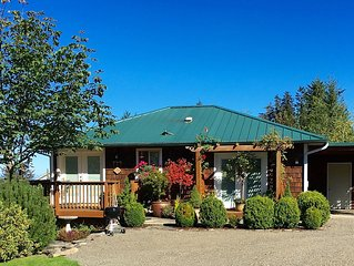 Mt. Pleasant Garden View Ranch Cottage with Panoramic Saltwater Views of BC