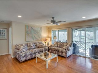 Just a Short Walk to the Beach, Relax on the Screened Porch Looking Out Over th