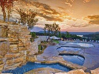 Villa on Lake Travis at Hollows Resort, 4 Pools & Many Amenities