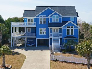 Elegant home with private pool, golf cart, views, few steps from beach