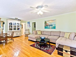 Pet Friendly Home with Fenced Backyard and Only 2 Blocks To Beach