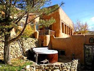 Adobe Hacienda Compound Historic (1790)  5 miles south of Taos Plaza.