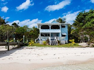 Sandy Beach Front, with private dock on Lubbers Quarters Cay