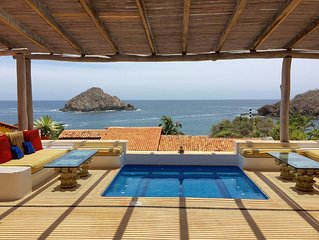 Stunning Costa Careyes Casita - Expansive Views, Private Pool, Steps To Beach