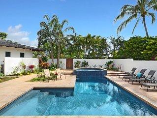 Kapiolani Villa: Luxurious, Private, Updated Home w/ AC, Pool, Spa & Ocean View!