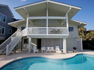 Oceanfront Home with Private Pool and Beach Path - Dogs Allowed!