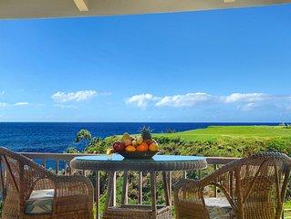 Pali Ke Kua #231 - Amazing OCEAN FRONT views - access to private beach