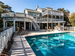 Great Oceanfront Beach House w/ Pool and Multiple Decks - Pet Friendly
