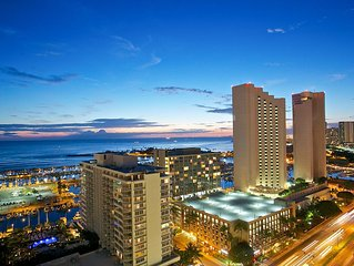 Panoramic Ocean View - The Best View of the Building in Waikiki Beach