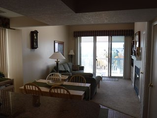 Updated 3 BR, 3 BA Boyne City Condo - Steps from Town, Beach, and Marinas