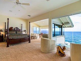 Kapalua Bay Villa Gold 180* Endless Ocean Views! Direct Beach Front Location!