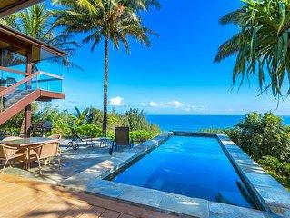 Ocean Bluff, Pristine Views! 3 bedroom, 4 bath w/Pool/Jacuzzi.  Spacious!