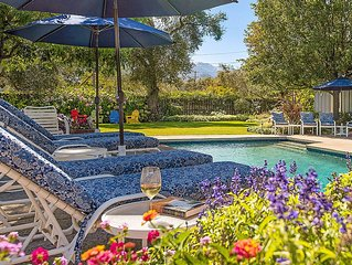 Wine Country Oasis. Pool, hot tub, vineyard views, walk to Downtown St. Helena