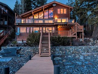Blue Stone Lakefront Retreat: 4 BR / 3.5 BA house/cabin in Carnelian Bay, Sleep