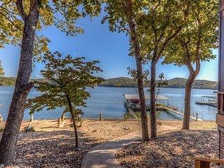 Family Fun Lakefront LOG CABIN AT THE LAKE #8 of 9 homes, 5+bd, 4 bath, 6500 sf.