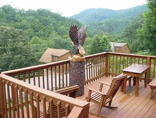Log Cabin Close To Dollywood W/ View & Free Wi-Fi!