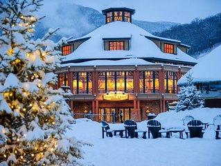 Beautiful Mountainside studio at the Stowe Mountain Lodge Unit #378