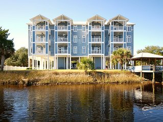 WATERFRONT, RIVERS EDGE CONDO #2C-BLDG 2 *PRIVATE DOCK and ASSIGNED BOAT SLIP!