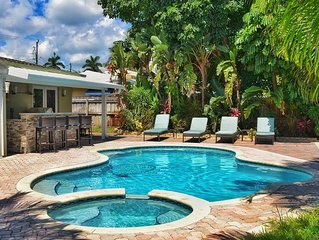 Waterfront 5 Bedroom Tropical Oasis Close To Beach, Las Olas, & Wilton Manors