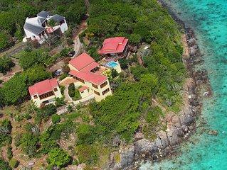 Secret Luxury.  Villa with Swimming Pool, Beach, Dock & Boat