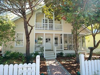 "In Seaside Proper ""Carey Cottage"" is 5 houses up from the beach - Sleeps 8!"