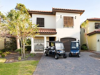 Villa Lago 1888 ~ 2 Golf Carts Included! ~ FREE TRAM & WIFI ~Near BEACH