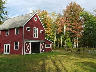 Berkshire Barn on 23 Wooded Acres 1BR/1.5 Bath Sleeps 7