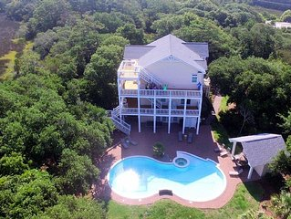 Reduced 20% week of Aug. 6th Spectacular Sound/Ocean View! Saline Pool, Elevator