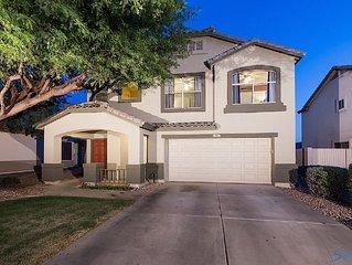 East Mesa Gem:  Casa Dakota is a 4BR, 2.5 BTH 2-story home with a heated pool.