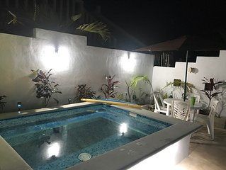 New beautiful pool!!  Perfectly located between Akumal and Tulum