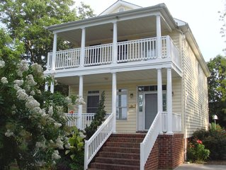 One Block from Beach with Bay Views. July-August dates still available!