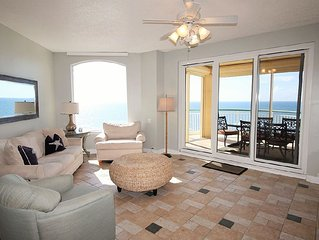 Chic Updated Beach Colony Unit, on Gulf with Large Balcony & Best Views!