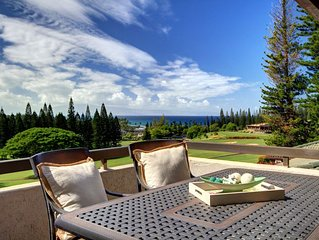Kapalua Golf Villa Luxuriously Furnished with Breathtaking Ocean Views!