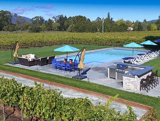 2+ Acres w/ Vineyard, Pool, Spa, Bocce Court, Firepit.  1+ Mile to Sonoma Square