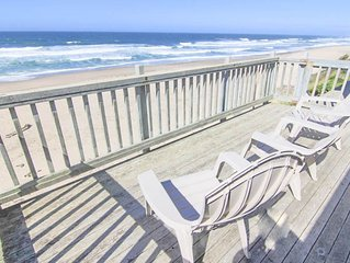 Spacious Oceanfront Elegance with Hot Tub and Private Beach Access!