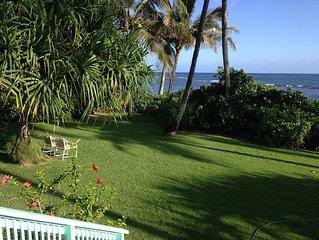 Beachfront traditional Hawaiian home