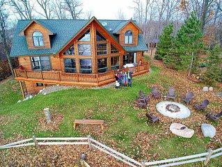 * Lakefront Log Home Retreat * Big Sandy Lake