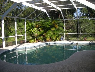 Vero Beach pool home with private screened inground pool minutes to everything