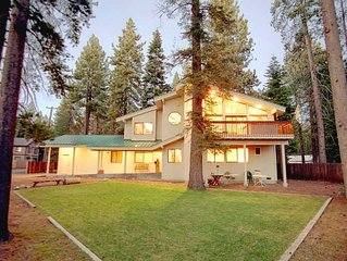 Walk to Lake! Large Home with Private Hot Tub, Large Yard and Lake Views! ~ Prop