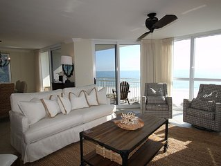 Gorgeous SeaSpray West Unit on Gulf- Beach Chic Decor, Sunset Views!