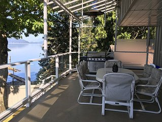 Waterfront house on Harrison Lake - private hot tub, beach & semi-private dock!